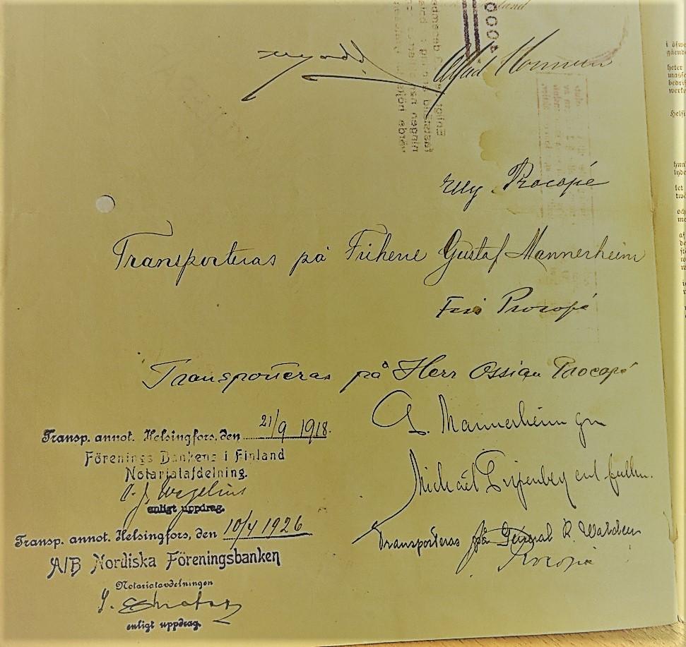 Mannerheimin nimikirjoitus